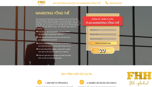 Báo giá dịch vụ marketing tổng thể trọn gói