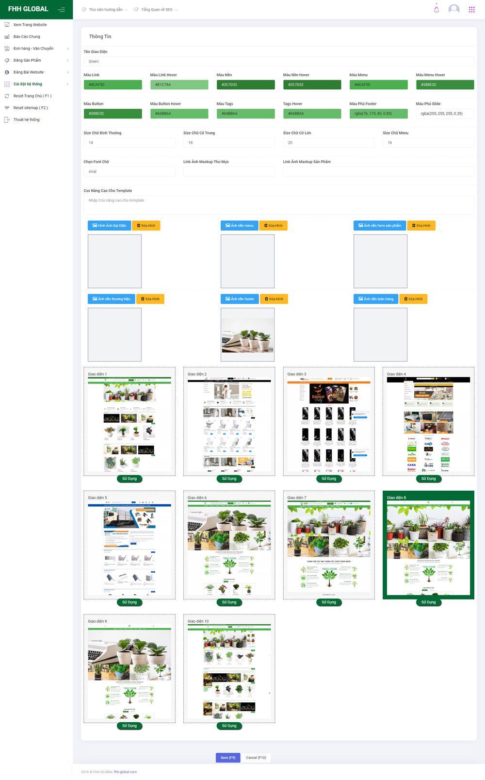 Thiết kế, tùy chỉnh giao diện dễ dàng